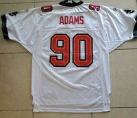 RARE Tampa Bay Buccaneers Reebok #90 Gaines Adams White Jersey Size M