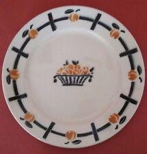 piatto Ceramica di Badonviller Epoca Art Deco Antico Francese Maiolica Piatto