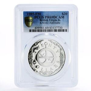 British Virgin Islands 20 dollars Astrolabe PR69 PCGS proof silver coin 1985