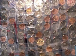 Huge Mint Lot Mix Cellophane Wrapped 60s 70s 80s 90s No Duplicates! 65  Coins