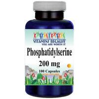 Phosphatidylserine 200mg 100 Caps by Vitamins Because