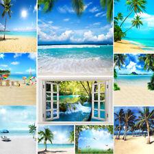 Seaside Beach Vinyl Background Backdrop For Studio Summer Photography Background