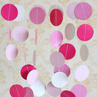 New Circle Round Paper Garland Banner Polka Dots Bunting Wedding Party Decor
