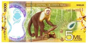 Billete de 5000 colones de Costa Rica polímero, 2018 (2020)