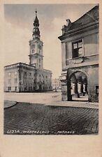 AK Lissa Wartheland Rathaus Postkarte vor 1945