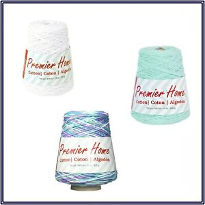 NWT Premier Home Cotton Yarn Cone Crochet Knit DIY Projects Home Decor
