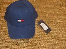 TOMMY HILFIGER BASEBALL CAP MEN'S  BIG FLAG LOGO BLUE ADJUSTABLE  AUTHENTIC NEW