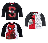 Boys Kids Official Licensed Marvel Spiderman Long Sleeve T Tee Shirt Top