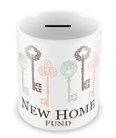 NEW HOME Fund - Money Box Piggy Bank First time buyers gift idea coins saver #63