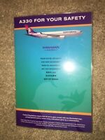 Hawaiian Airlines OLD CARD RARE A330 safety card PERFECT MINT CONDITION