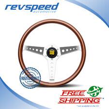 MOMO Steering Wheel Heritage California Real Wood 360mm Chrome Polished Spokes