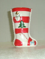 Vintage Holiday Figural Planter XMAS Stocking Snowman Tree Candy Cane Train