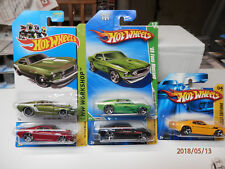 Hot Wheels ford 69 mustangs set of 5 with 1 short card 1 th/hunt