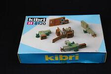 W123 KIBRI Train Ho Maquette 8120 Mobilier bureau table chaise cloison armoire