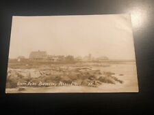 RPPC Photo Postcard--MAINE--Biddeford Pool--South Point View of Town Buildings
