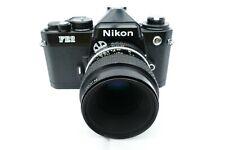 Nikon FE2 black   mit  2,8  55mm  Micro Nikkor