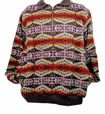 Pendleton Sweater High Grade Western Wear Indian Blanket Coat Jacket 1/4 Zip XL