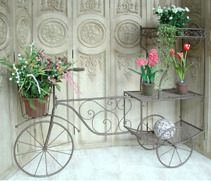 Vintage Fahrrad Rikscha Rad Dreirad Blumenständer Pflanzfahrrad 152cm 0949057-b