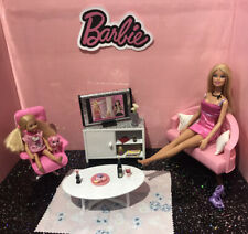 Barbie 💕 Playset; Living Room With Dolls, Furniture & Accessories