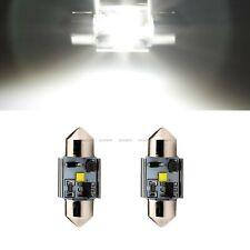 2 Pcs White 31MM 1 Led CREE Canbus Error Free Festoon Dome Light Bulb 3175