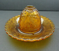 Indiana Tiara Glass Sandwich Amber Fairy Lamp