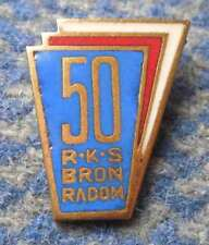 BRON RADOM 50 ANNIVERSARY POLAND FOOTBALL CYCLING TENNIS ARCHERY PIN BADGE