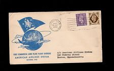 Great Britain 1st Commercial Land Plane American Airlnes London Boston Cover 8q