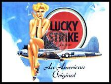 LUCKY Strike Smalto Stile Metallo Segno 15cm x 20cm