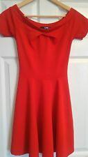 ladies red skater dress size 8