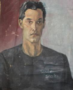 Vintage oil painting male portrait