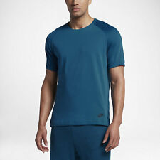 Nike XL  Men's Sportswear Bonded Short Sleeve Shirt NEW  832208 457 Blue w Black