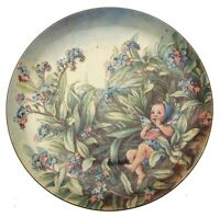 Border fine bone china Festival of Flower Fairies Forget Me Not Fairy Plate