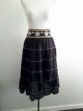 Glam It Up! Charlie Brown size 8 black tiered skirt in good pre-owned condition