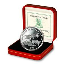 British Virgin Islands 100 Years Naval Aviation $10 2009 Proof Silver Crown Mint