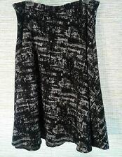 Black, Gray, White LADIES ROUND FULL SKIRT - LINED Size 14 - 16 1x Plus