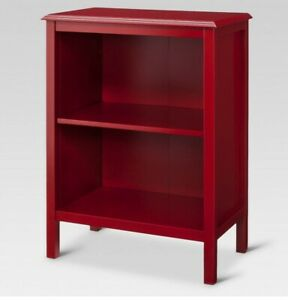 Windham 2 Shelf Bookcase -RED