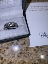 18k Chopard Diamond Ring Solid White Gold