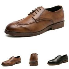 38-47 Retro Mens Business Leisure Faux Leather Shoes Work Office Oxfords Party L