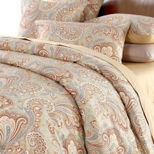 Duvet Cover Set 3Pcs 100% Cotton Paisley Bedding Set 800 Thread Count,Full
