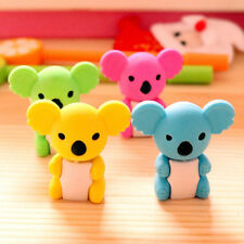 2pcs Lovely Cartoon Koala Modelling Eraser Cute Rubber Kawaii Kids Gifts