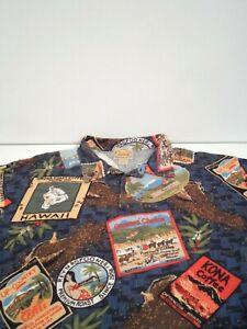 Reyn Spooner Men's Casual Hawaiian Shirt Size XL Nostalgia Pique S/S Polo Top