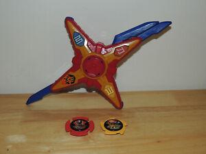 Power Rangers Ninja Steel DX Ninja Battle Morpher Red Morpher with stars