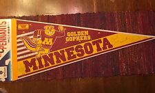 Minnesota Golden Gophers Basketball Team Coach Signed Pennant 93-94