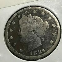 1884 LIBERTY NICKEL BETTER DATE COIN