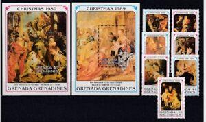 D.Christmas Grenada Gren. 1238-44 + Block 183/84 (MNH)
