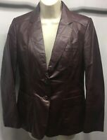Vintage Carriage Court Leather Jacket 8 Womens Brown Fitted Slimming Brown Lined