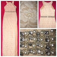 WINDSOR•Formal•LACE/Rhinestone•DRESS•Prom•PARTY•Cocktail•Wedding/Gown•SMALL~MED.