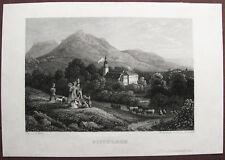 KARPNIKI Fischbach POLEN Polska. Orig. Stahlstich ca. 1860