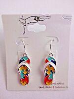 Flip Flop Dangle Earrings Puzzle Piece Autism Awareness 4R