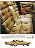 1968 Cadillac Fleetwood Brougham Vintage Print Ad Choice Seat